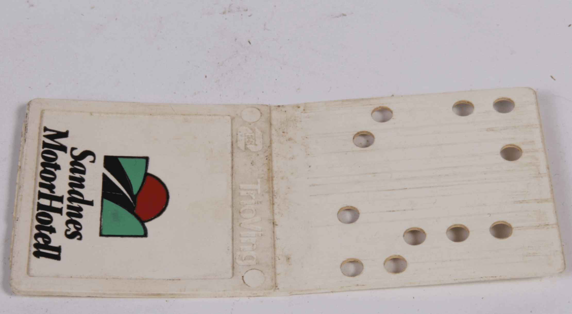 VingCard TrioVing early original plastic hotel key card with holes